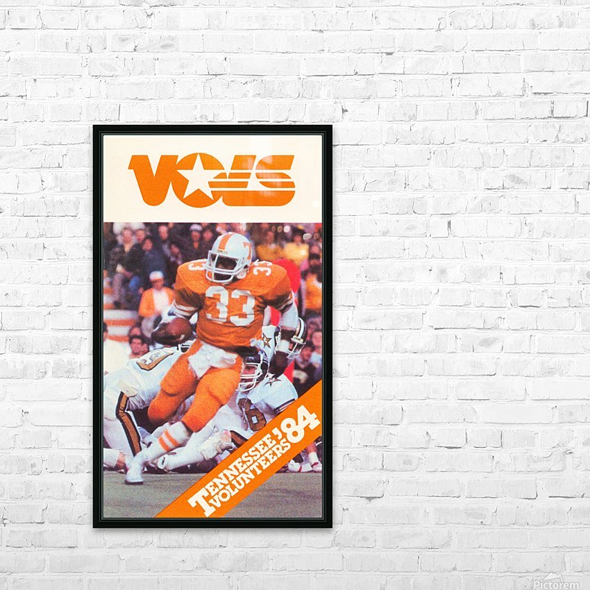 1984 tennessee vols college football poster HD Sublimation Metal print with Decorating Float Frame (BOX)