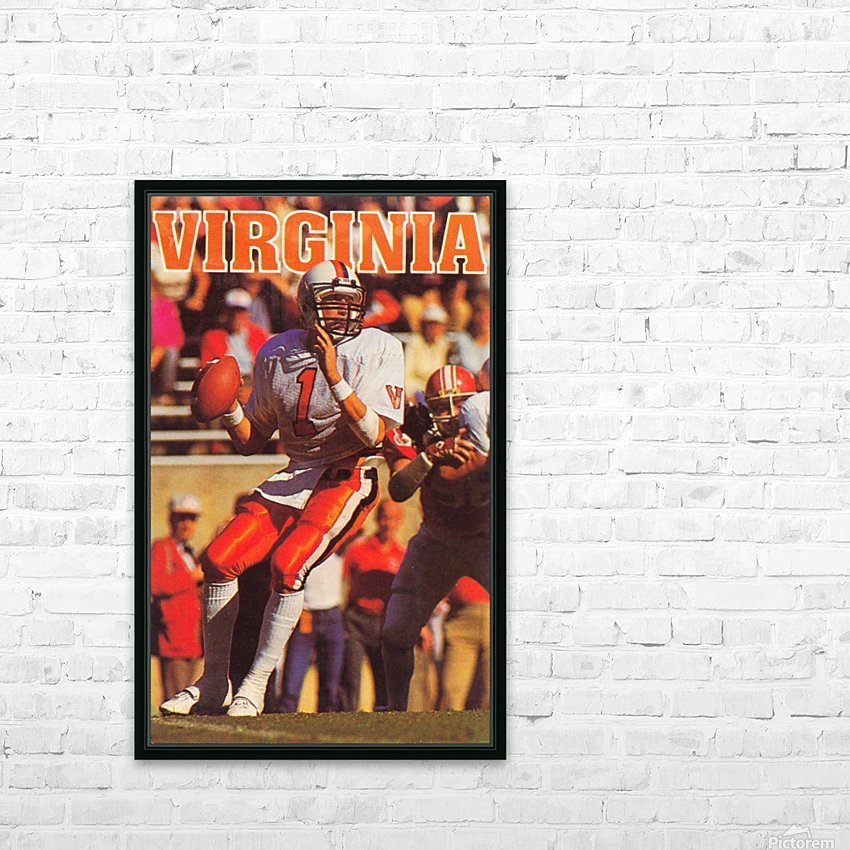 1986 virginia cavaliers football poster HD Sublimation Metal print with Decorating Float Frame (BOX)