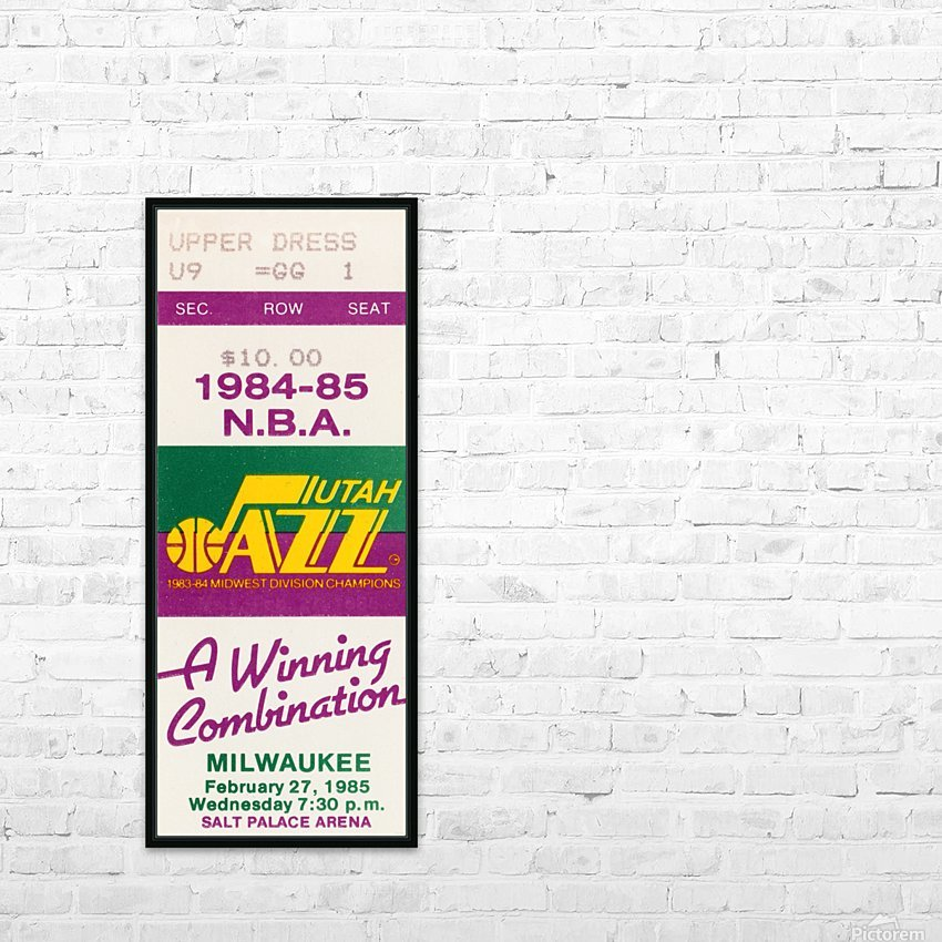 1984 utah jazz milwaukee bucks salt palace arena ticket art HD Sublimation Metal print with Decorating Float Frame (BOX)