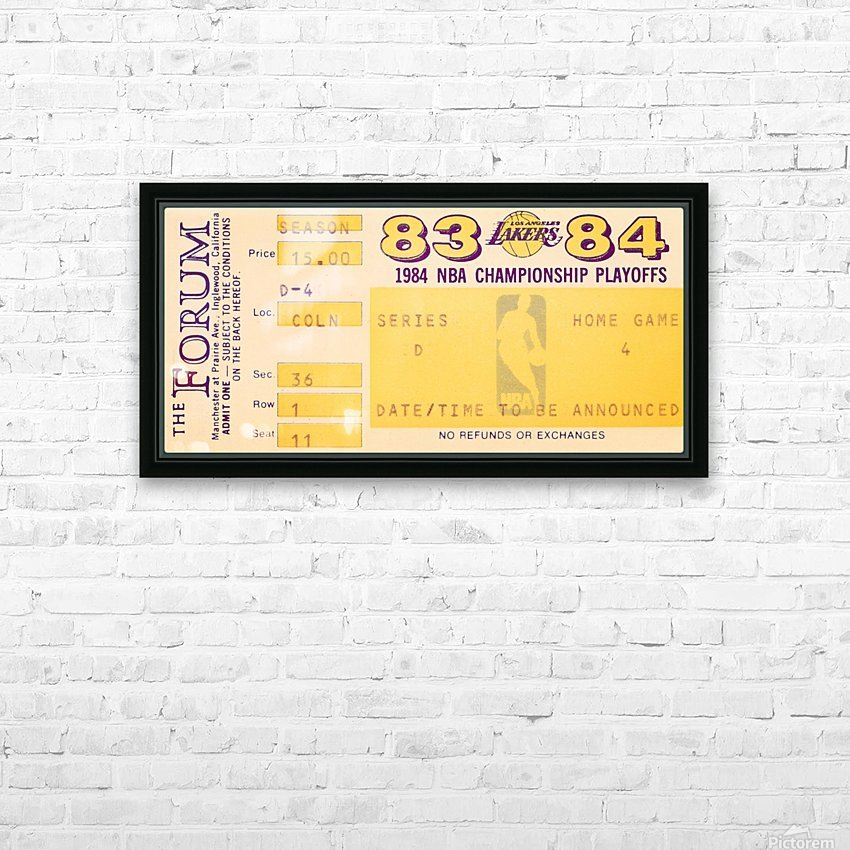 1983 84 la lakers nba playoff ticket art HD Sublimation Metal print with Decorating Float Frame (BOX)