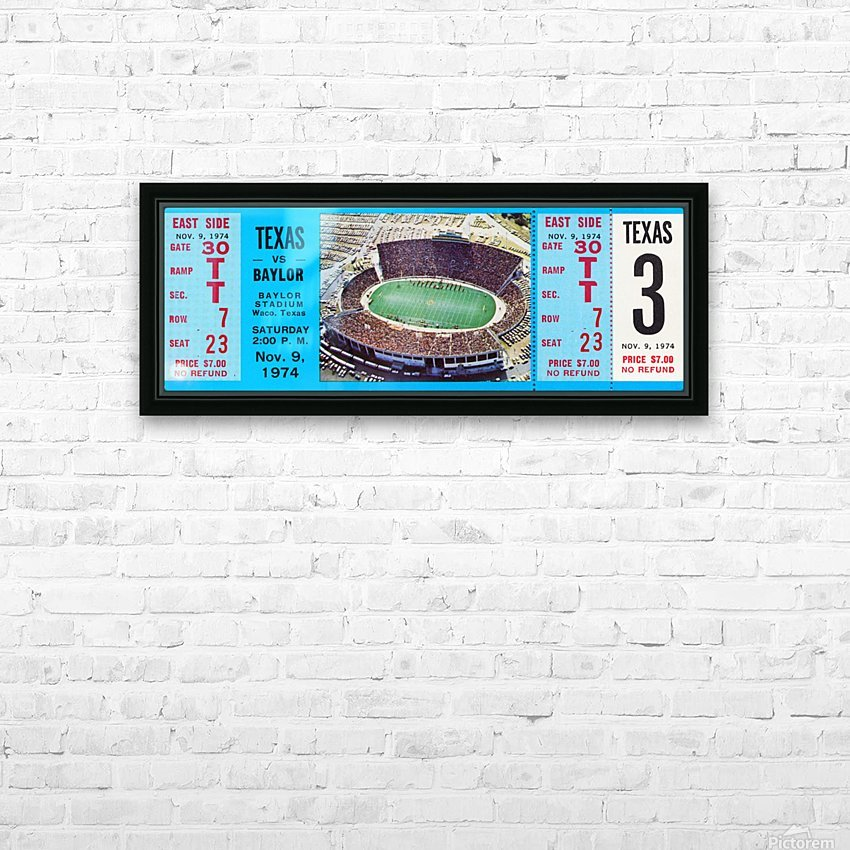 1974 baylor bears texas college football ticket art HD Sublimation Metal print with Decorating Float Frame (BOX)