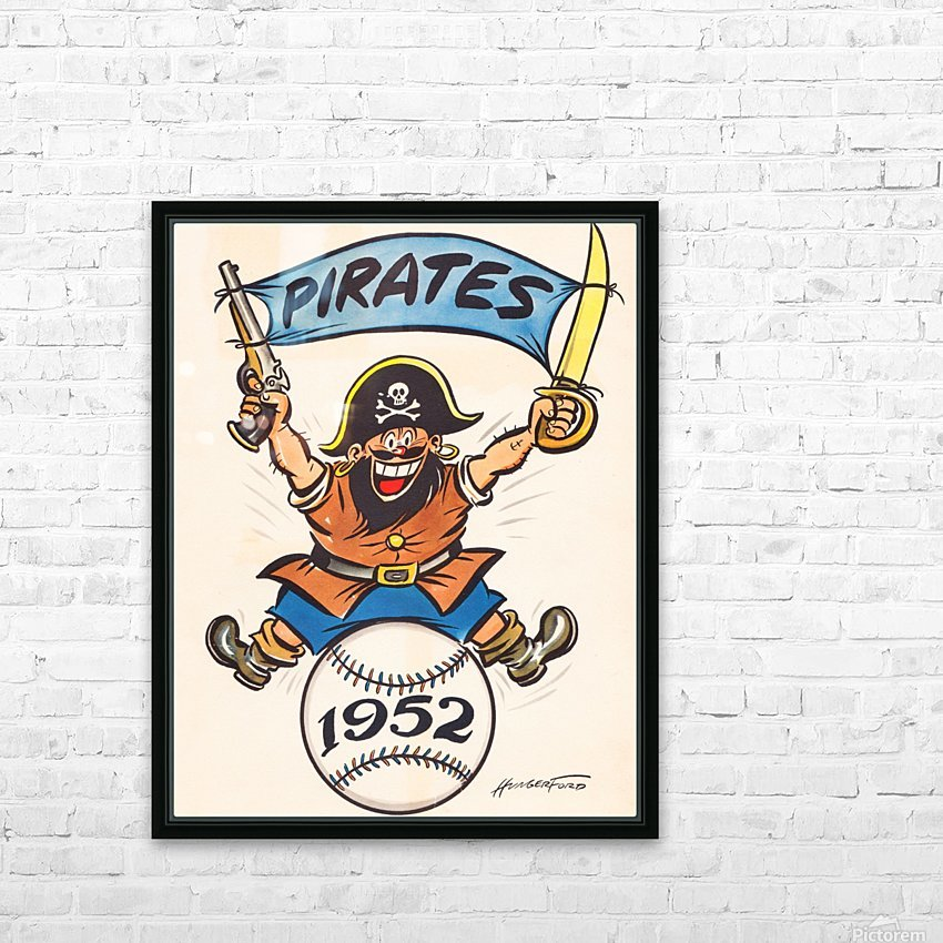 1952 pittsburgh pirates artist cy hungerford HD Sublimation Metal print with Decorating Float Frame (BOX)