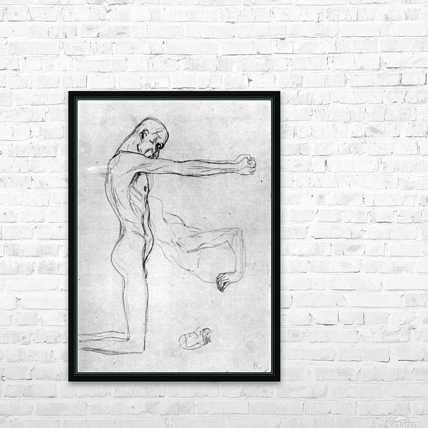 Man with with outstretched arms by Klimt HD Sublimation Metal print with Decorating Float Frame (BOX)