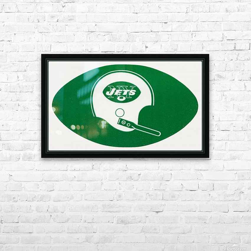 1960s new york jets helmet wall art HD Sublimation Metal print with Decorating Float Frame (BOX)