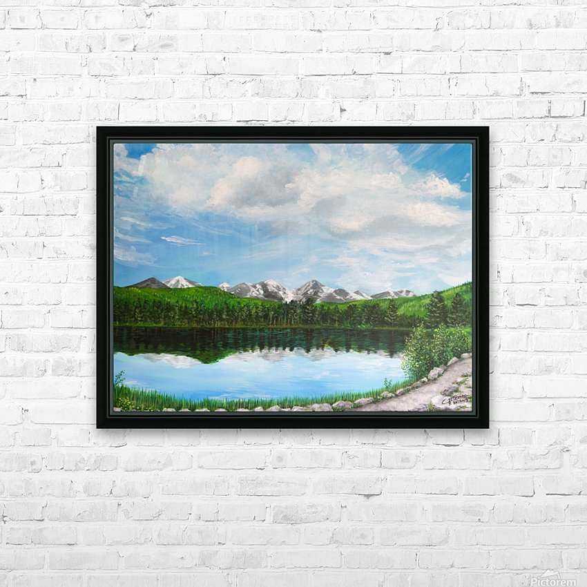 Sprague Lake CO HD Sublimation Metal print with Decorating Float Frame (BOX)