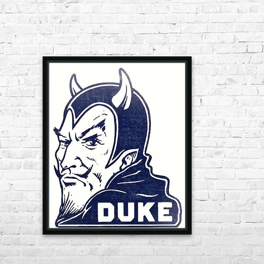 1950s duke university blue devil college art HD Sublimation Metal print with Decorating Float Frame (BOX)