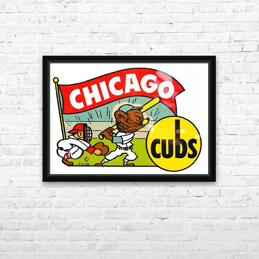 1960s chicago cubs art HD Sublimation Metal print with Decorating Float Frame (BOX)