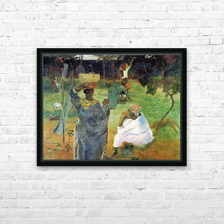 Mango Fruit by Gauguin HD Sublimation Metal print with Decorating Float Frame (BOX)