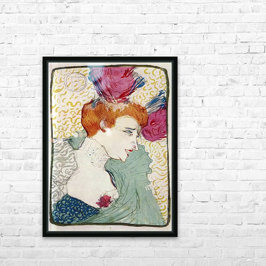 Marcellle Lender by Toulouse-Lautrec HD Sublimation Metal print with Decorating Float Frame (BOX)