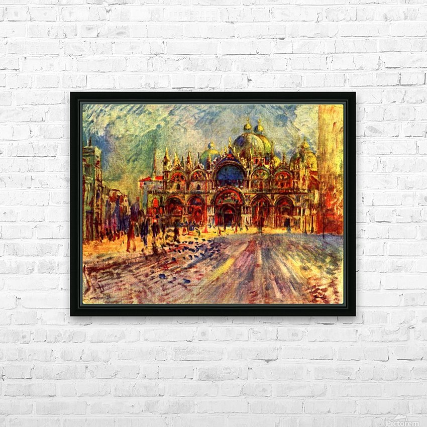 Marcus place in Venice HD Sublimation Metal print with Decorating Float Frame (BOX)