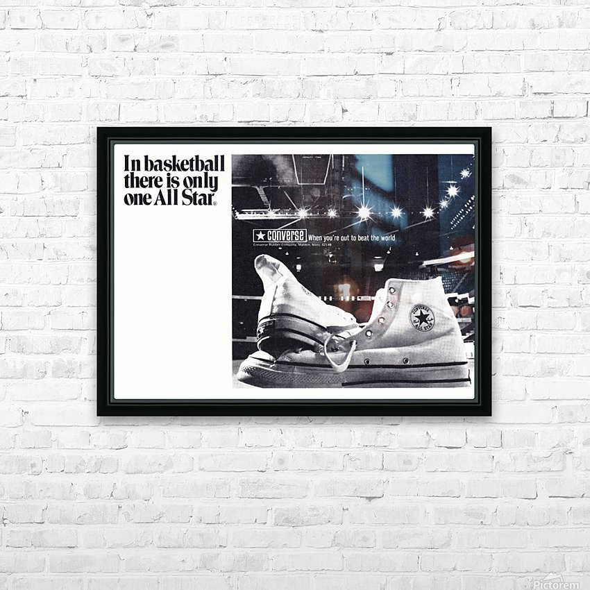 1968 converse all star shoe ad reproduction wall art HD Sublimation Metal print with Decorating Float Frame (BOX)