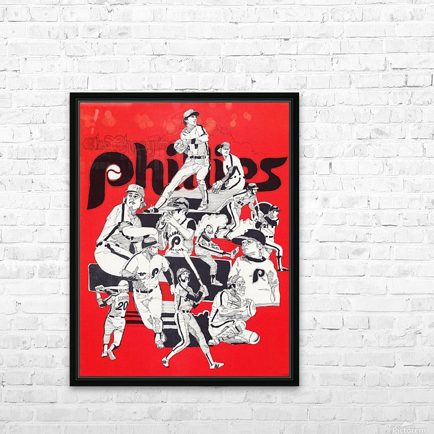 1977 philadelphia phillies champions retro baseball poster HD Sublimation Metal print with Decorating Float Frame (BOX)