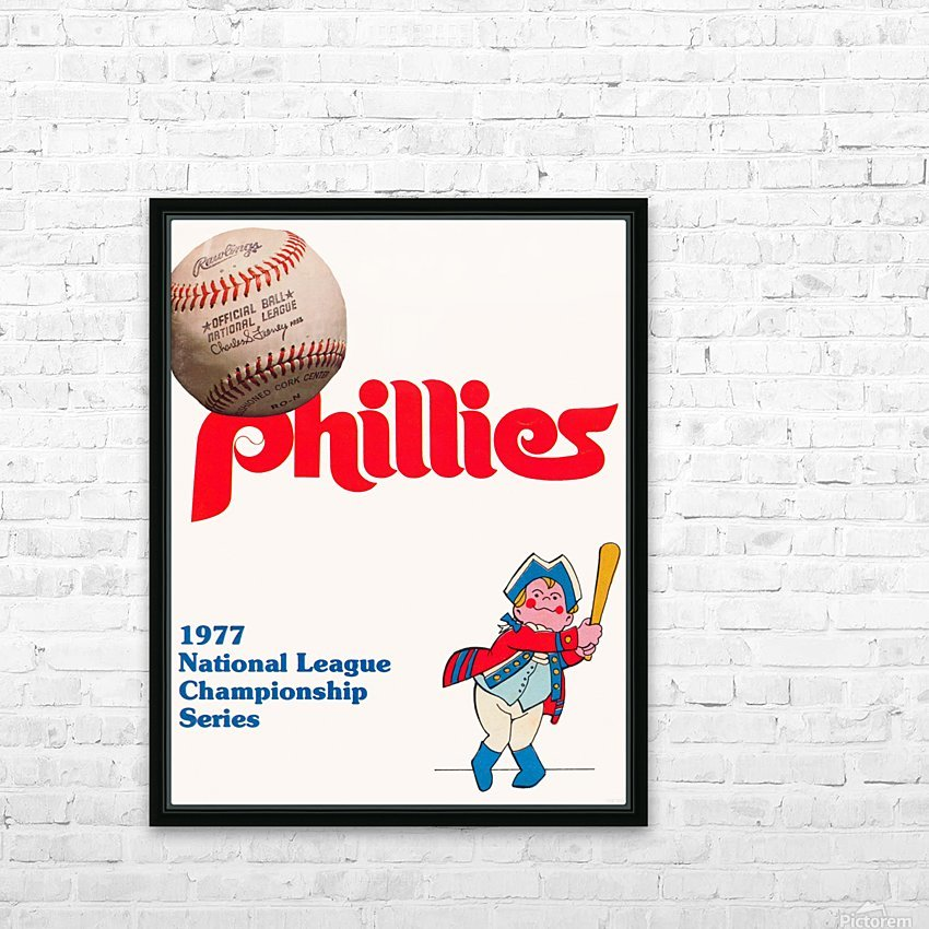 1977 philadelphia phillies national league championship series poster HD Sublimation Metal print with Decorating Float Frame (BOX)