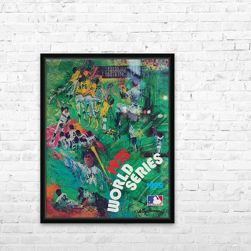 1975 world series program cover leroy neiman wall art HD Sublimation Metal print with Decorating Float Frame (BOX)