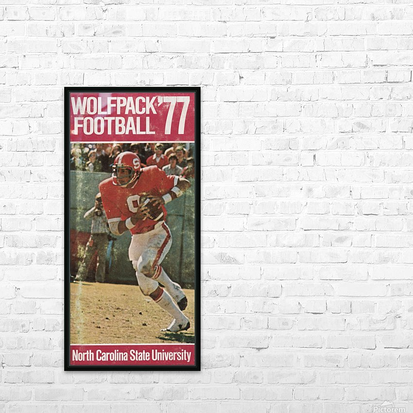 1977 nc state wolfpack retro college football poster johnny evans qb HD Sublimation Metal print with Decorating Float Frame (BOX)