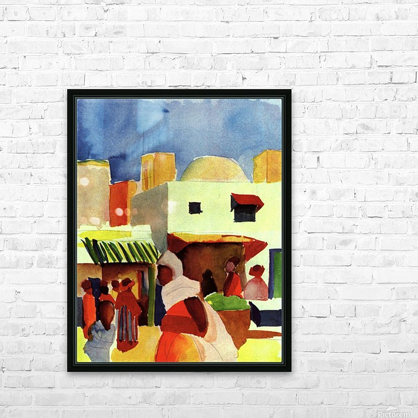 Market in Algier by Macke HD Sublimation Metal print with Decorating Float Frame (BOX)