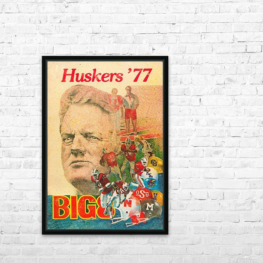 1977 nebraska cornhuskers tom osborne big 8 college football poster HD Sublimation Metal print with Decorating Float Frame (BOX)