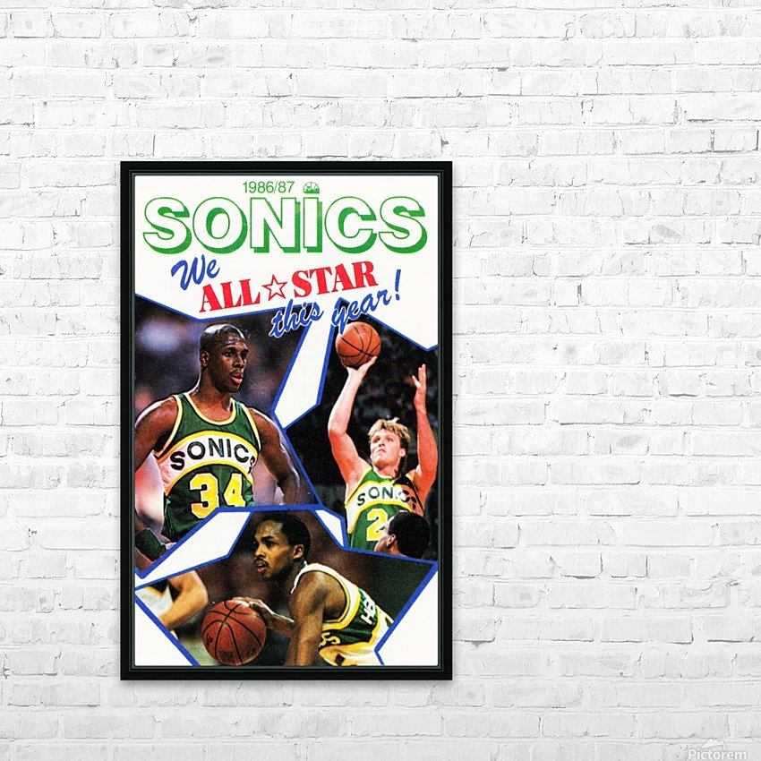 1987 seattle supersonics nba all star game poster HD Sublimation Metal print with Decorating Float Frame (BOX)