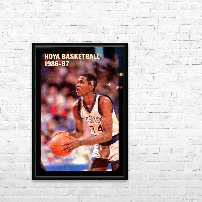 1986 georgetown hoyas basketball reggie williams poster HD Sublimation Metal print with Decorating Float Frame (BOX)