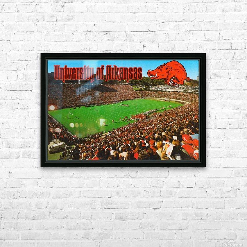 retro arkansas razorbacks football fayetteville razorback stadium photo HD Sublimation Metal print with Decorating Float Frame (BOX)
