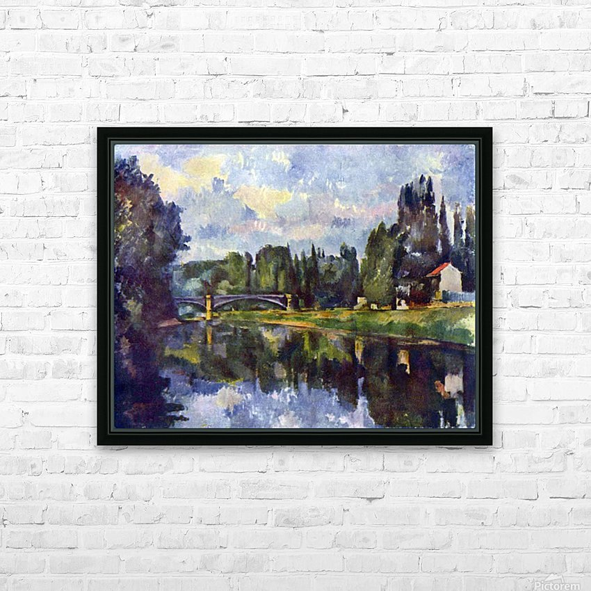 Marne Shore by Cezanne HD Sublimation Metal print with Decorating Float Frame (BOX)
