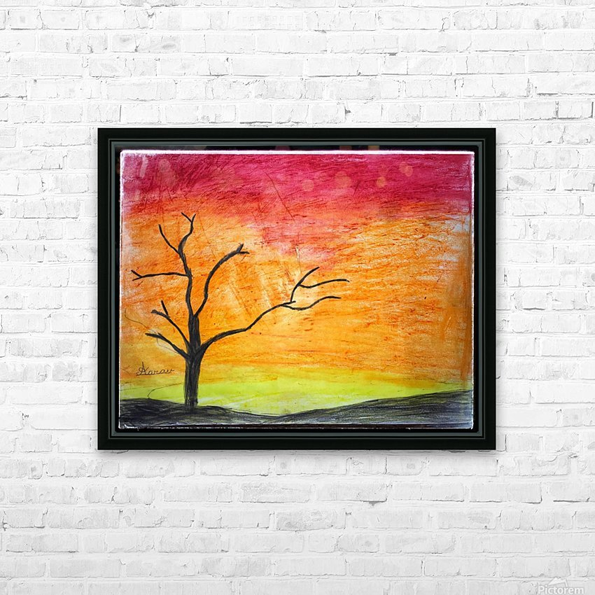 Tree HD Sublimation Metal print with Decorating Float Frame (BOX)