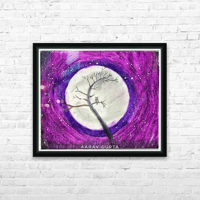 Moon HD Sublimation Metal print with Decorating Float Frame (BOX)