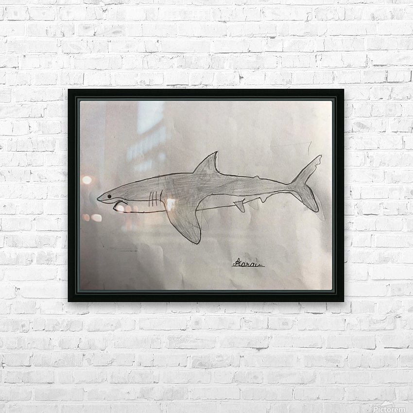 Shark Image HD Sublimation Metal print with Decorating Float Frame (BOX)