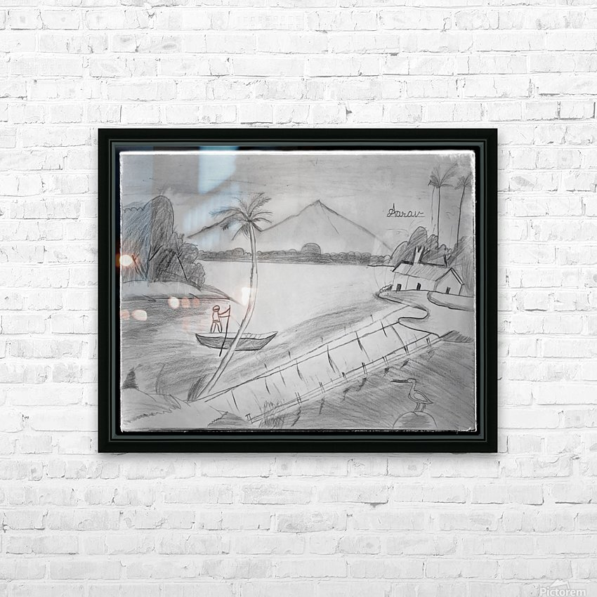Vintage_1 HD Sublimation Metal print with Decorating Float Frame (BOX)