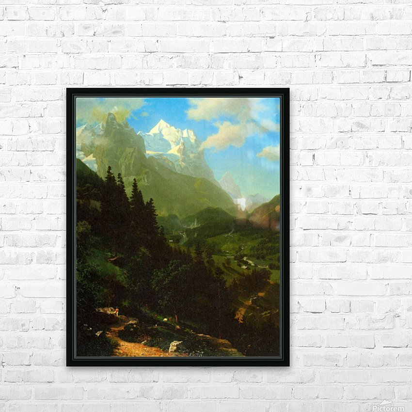 Matterhorn by Bierstadt HD Sublimation Metal print with Decorating Float Frame (BOX)