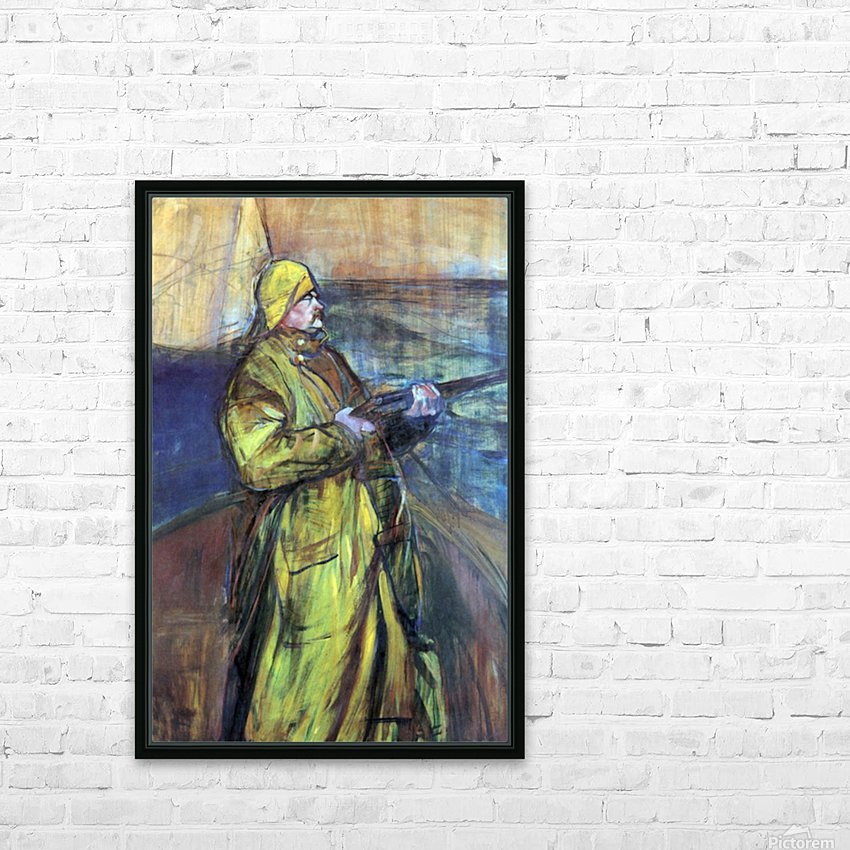 Maurice Joyant at the Bay Somme by Toulouse-Lautrec HD Sublimation Metal print with Decorating Float Frame (BOX)