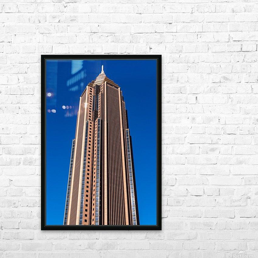 Bank of America Building   Atlanta GA 6630 HD Sublimation Metal print with Decorating Float Frame (BOX)