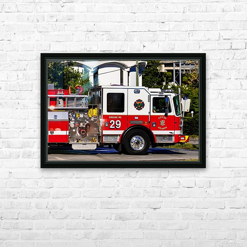 City of Atlanta Fire Engine No 29 6665 HD Sublimation Metal print with Decorating Float Frame (BOX)