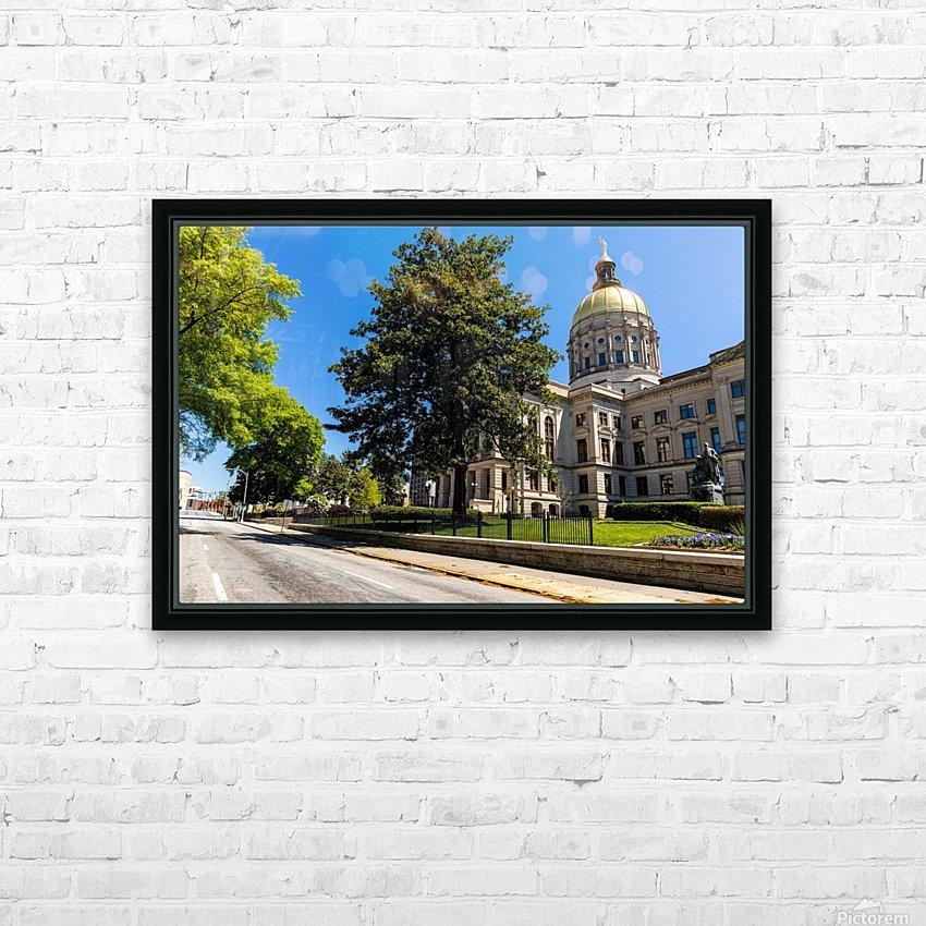 Georgia State Capitol Building   Atlanta GA 6984 HD Sublimation Metal print with Decorating Float Frame (BOX)