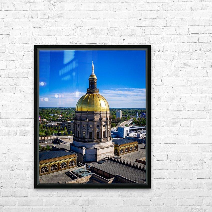 Georgia State Capitol Building   Atlanta GA 0636 HD Sublimation Metal print with Decorating Float Frame (BOX)