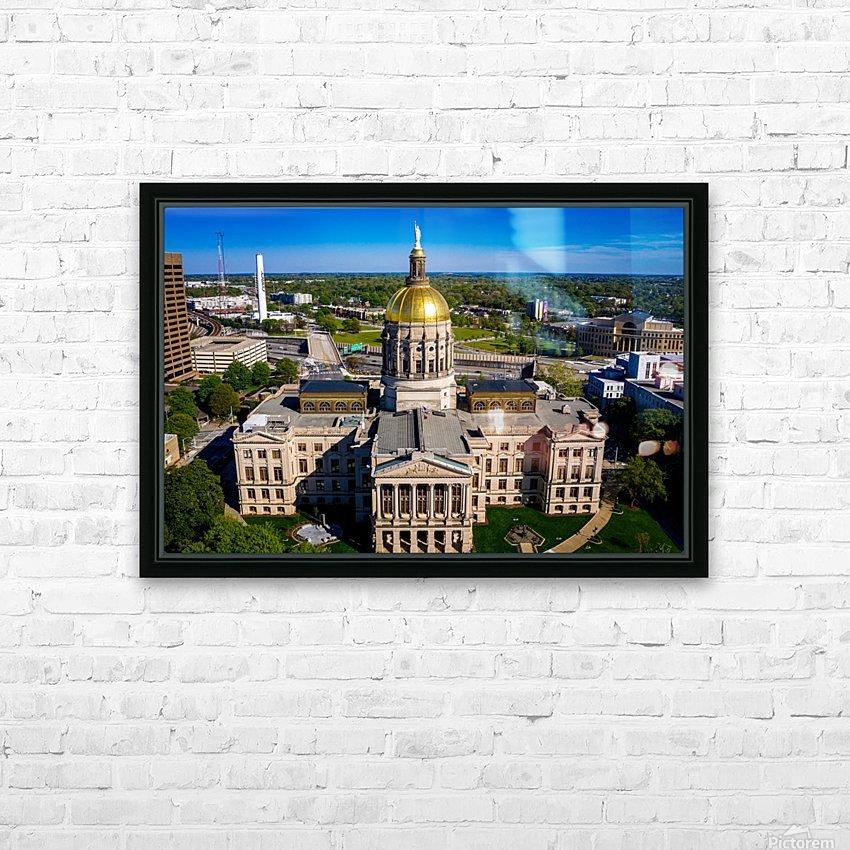 Georgia State Capitol Building   Atlanta GA 0639 HD Sublimation Metal print with Decorating Float Frame (BOX)