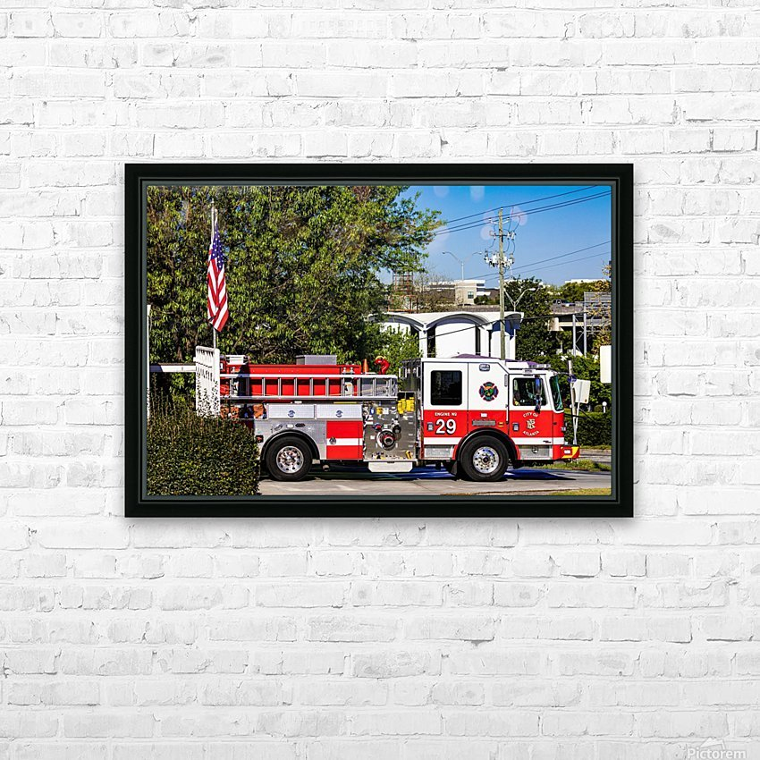 City of Atlanta Fire Engine No 29 6648 HD Sublimation Metal print with Decorating Float Frame (BOX)