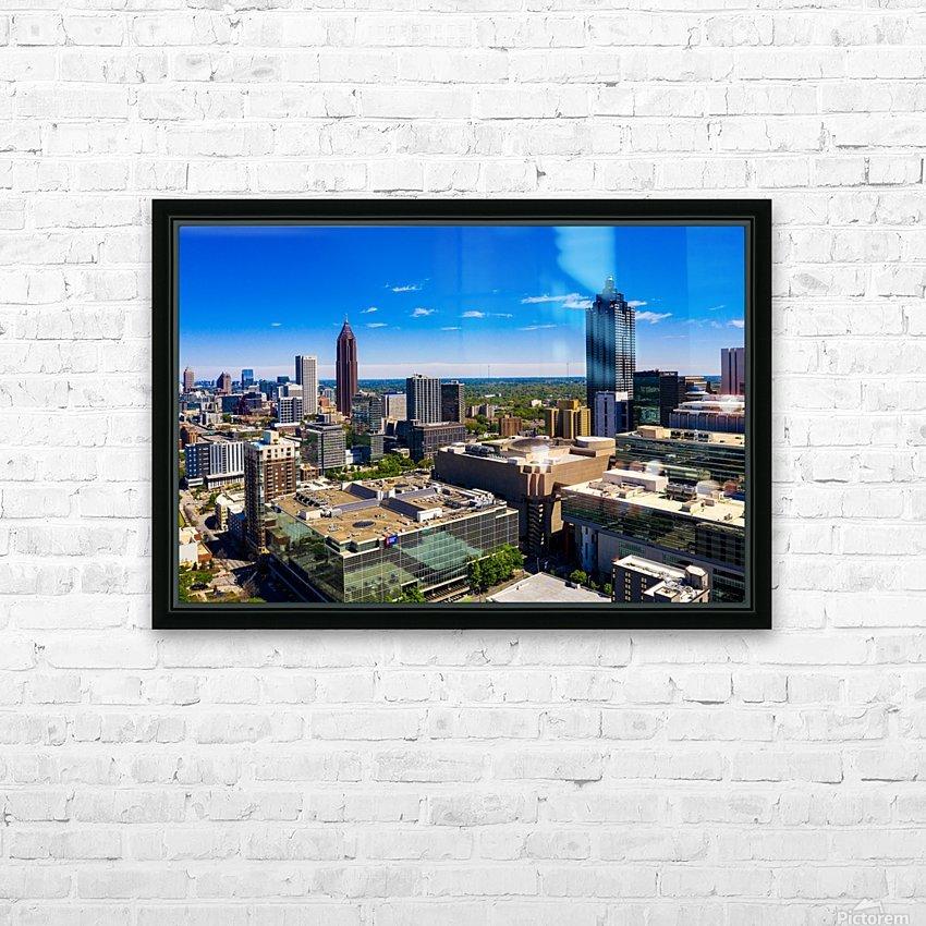 Downtown Atlanta Aerial View   Atlanta GA 0584 HD Sublimation Metal print with Decorating Float Frame (BOX)