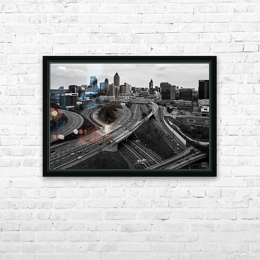 Interstate 75 85 Aerial View   Atlanta GA 0225 HD Sublimation Metal print with Decorating Float Frame (BOX)