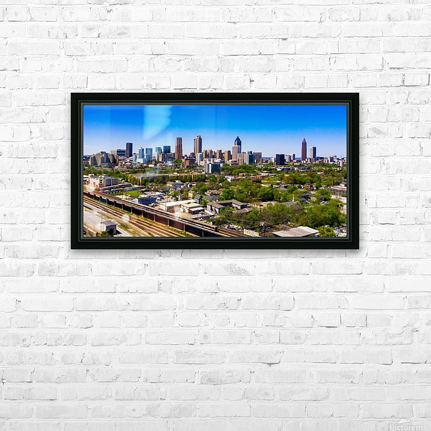 Atlanta GA  Panoramic Skyline 0618 HD Sublimation Metal print with Decorating Float Frame (BOX)