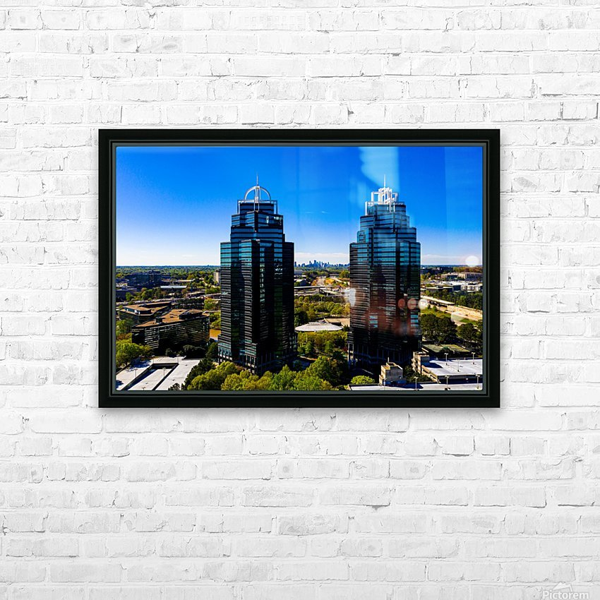 King and Queen Buildings   Atlanta GA 0556 HD Sublimation Metal print with Decorating Float Frame (BOX)