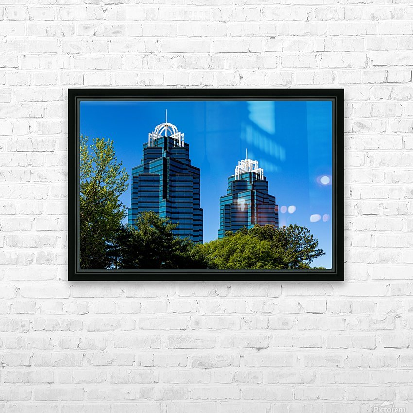 King and Queen Buildings   Atlanta GA 6686 HD Sublimation Metal print with Decorating Float Frame (BOX)