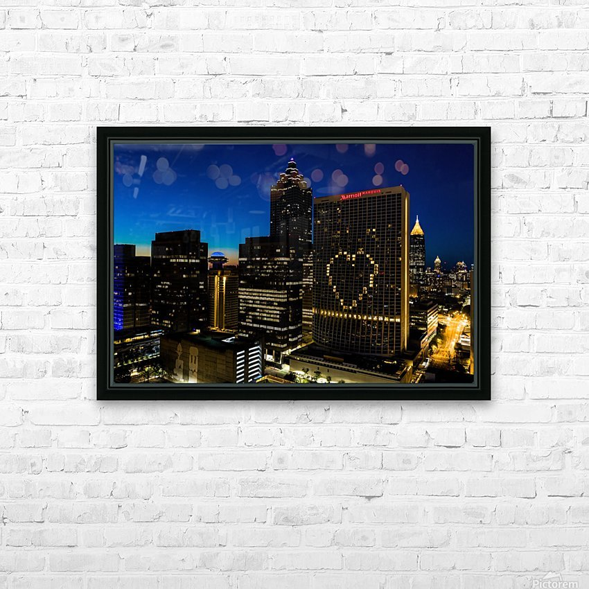Marriott Marquis Aerial View   Atlanta GA 0660 HD Sublimation Metal print with Decorating Float Frame (BOX)