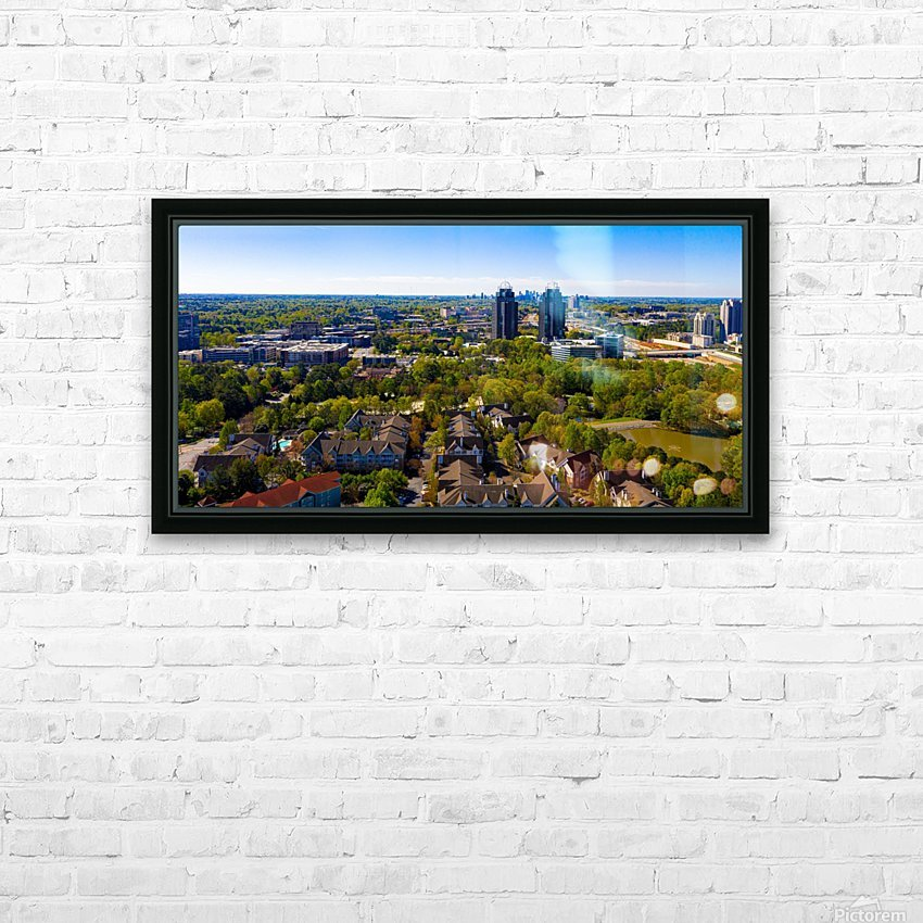 King and Queen Buildings Aerial View   Atlanta GA 0561 HD Sublimation Metal print with Decorating Float Frame (BOX)