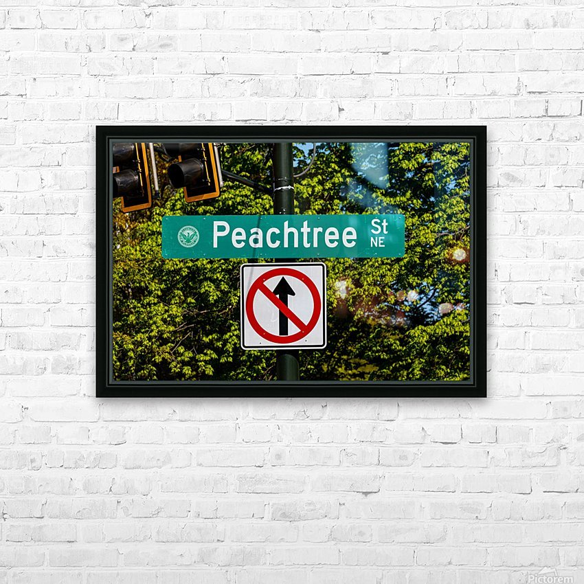 Peachtree St Road Sign   Atlanta GA 7162 HD Sublimation Metal print with Decorating Float Frame (BOX)
