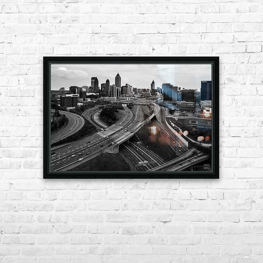 Interstate 75 85 Aerial View   Atlanta GA 0225_1596639055.5636 HD Sublimation Metal print with Decorating Float Frame (BOX)
