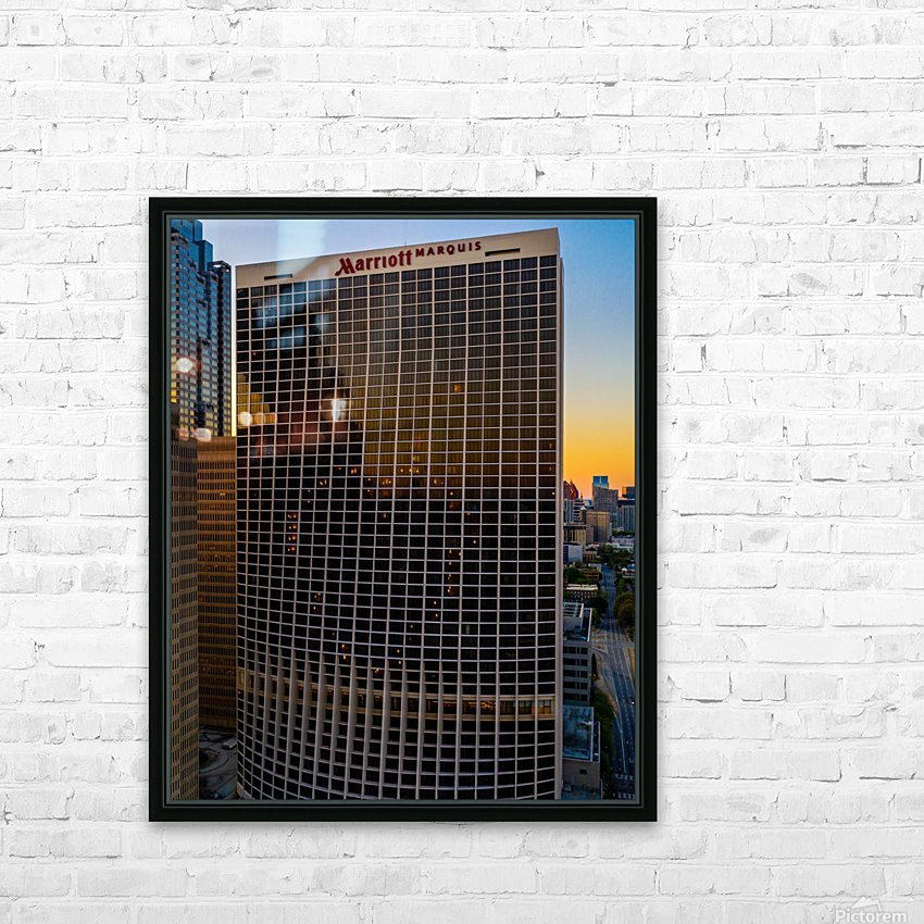 Marriott Marquis Aerial View   Atlanta GA 0644 HD Sublimation Metal print with Decorating Float Frame (BOX)