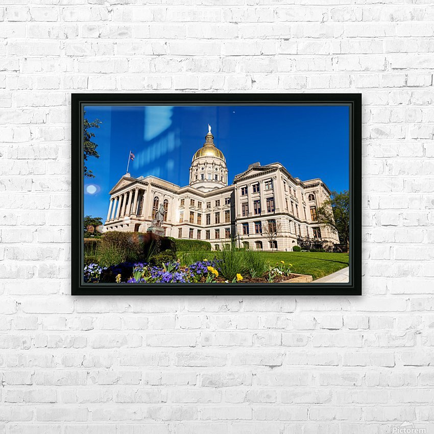 Georgia State Capitol Building   Atlanta GA 7236 HD Sublimation Metal print with Decorating Float Frame (BOX)