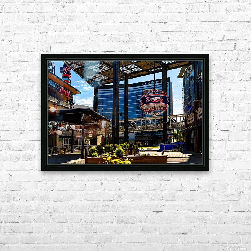 Truist Park   The Battery Atlanta GA 6741 HD Sublimation Metal print with Decorating Float Frame (BOX)