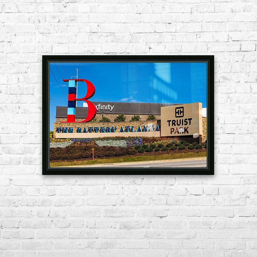 Truist Park   The Battery Atlanta GA 6703 HD Sublimation Metal print with Decorating Float Frame (BOX)